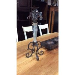 Maitland Smith Cast Iron and Lucite Candle Holder