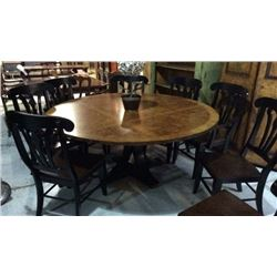 Century 72'' Inlayed Wood Top With Cast Bronze &