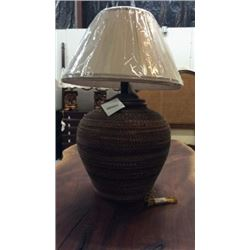 Maitland Smith Oversized Reed Wrapped Table Lamp
