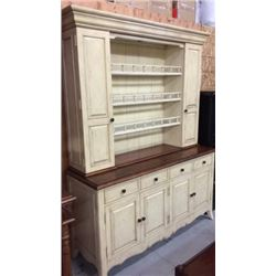 Artistica Open Colonial Hutch with 2 Doors and