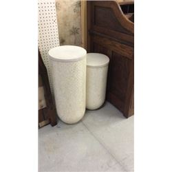 Century Pair of Fossilized Stone Pedestals with
