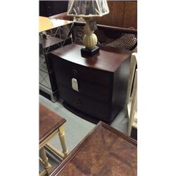 Century 3 Drawer Deco Night Stand