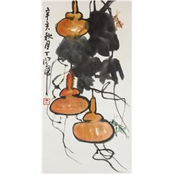 Ding Yanyong 1902-1978 Chinese Watercolour Roll