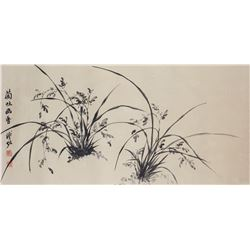 Puzuo 1918-2001 Chinese Ink of Orchid Paper Roll