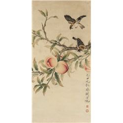 Yu Feian 1888-1959 Chinese Watercolour Paper Roll