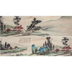 Zhang Daqian 1899-1983 China Watercolor Handscroll