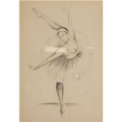 Edgar Degas 1834-1917 Dancer Pencil on Paper