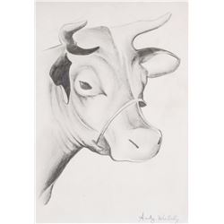 Andy Warhol (American, 1928-1987 Graphite Cow