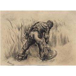 Vincent Van Gogh 1853-1890 Dutch Charcoal Sketch