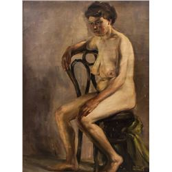 Isaac Israëls 1865-1934 Dutch Oil on Canvas Nude