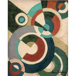 Sonia Delaunay 1885-1979 Ukranian Oil Canvas Abstr
