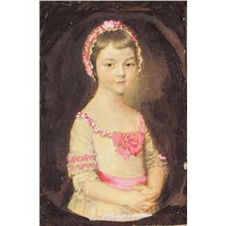 Decorative Print of Girl Portrait with Frame