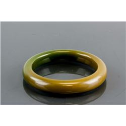 Chinese Mixed Brown and Green Hardstone Bangle