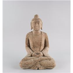 Chinese Ming Style Hardstone Carved Buddha Statue