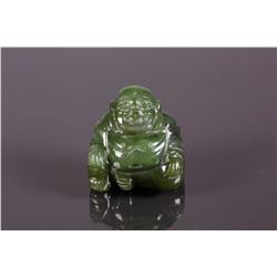 100% Natural Green Jade Hand Carving Buddha