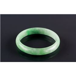 Burma Green Jadeite Carved Bangle