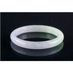 Burma Green & Lavender Jadeite Bangle Grade A Cert