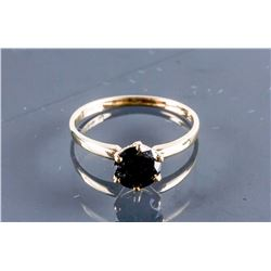 10k Yellow Gold Black Diamond Ring CRV$1650