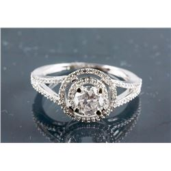 14k White Gold 0.59ct Diamond Ring CRV$3800