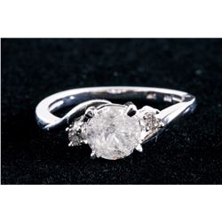 14k White Gold 1.34ct Diamond Ring CRV$5850