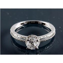 14k White Gold Diamond Halo Ring CRV$6660