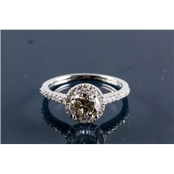 14k White Gold 1.15ct Round Brilliant Diamond Ring