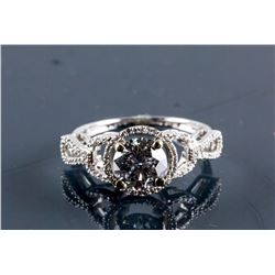 14k White Gold1.55ct & 0.20ct Diamond Ring