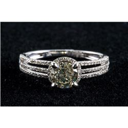 14k White Gold 0.71ct Diamond & 0.18ct Ring