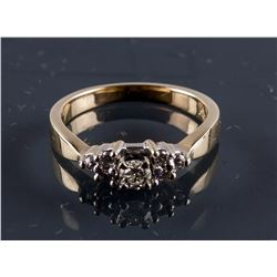 14k Yellow Gold 0.22ct Diamond Ring CRV$2250