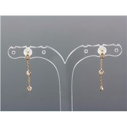 14k Yellow Gold Diamond Earrings RV$400