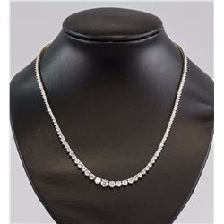Ladies 9.93Ct Diamond Gold Necklace GIA Appraised