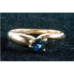 10k Yellow Gold and 0.75ct Sapphire Ring CRV$2150