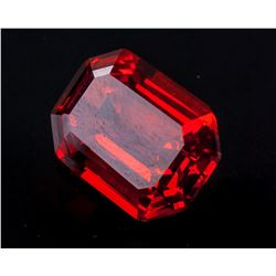 Emerald Cut 25.795 ct Ruby 18.14 mm x 12.93 mm