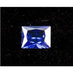 Princess Cut 7.535 ct Blue Sapphire 11.01 x 9.04mm