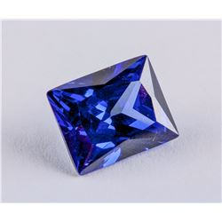 Princess Cut 7.700 ct Blue Sapphire 11.09 x 9.00mm