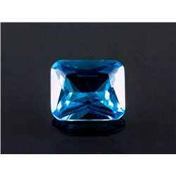 SEA BLUE SAPPHIRE 7.71CT Emerald Cut 10X12mm
