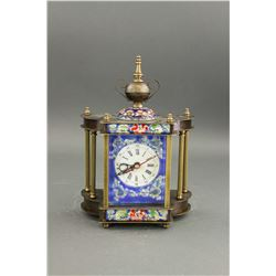 Germany Cloisonne Clock Germany 1883 Mk Worked
