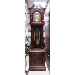 Tempus Fugit Grandfather Clock Working Cond NR