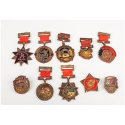 10 PC Assorted Chinese Medal