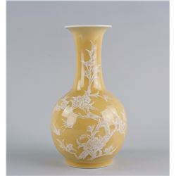 Chinese Light Brown Porcelain Vase Jing De Zhen MK