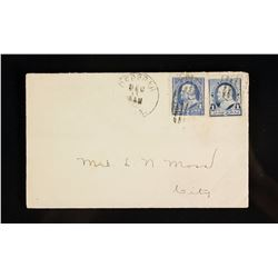 2 PC 1890-1895 US Franklin 1 Cent Stamp w Envelope