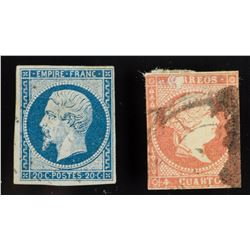 2 PC Assorted France and Cuba Stamp