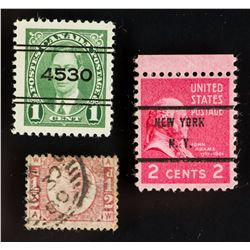 3 PC Assorted US, UK & Canada Stamp