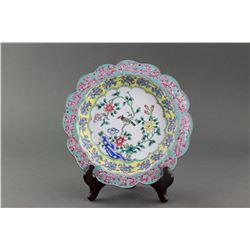 Chinese Canton Enameled Cloisonne Plate