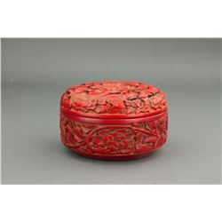 Chinese Ming Red Lacquer Box