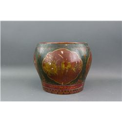 Chinese Old Wood Lacquer Bucket