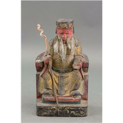 Chinese 16/17 Century Gilt Lacquer Wood Statue NR