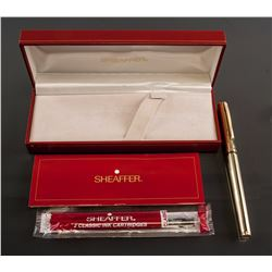 Sheaffer 270 Fluted Gold Electroplated Pen