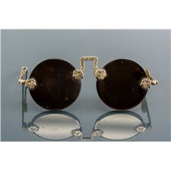 Chinese Vintage Folded Round Crystal Glasses