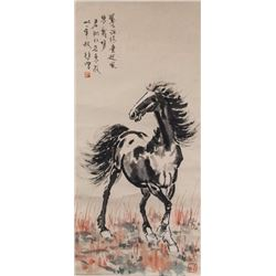 Xu Beihong (Chinese, 1895-1953) Watercolour Horse